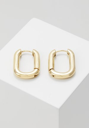 CHUNKY OVAL HOOP - Kolczyki - pale gold-coloured