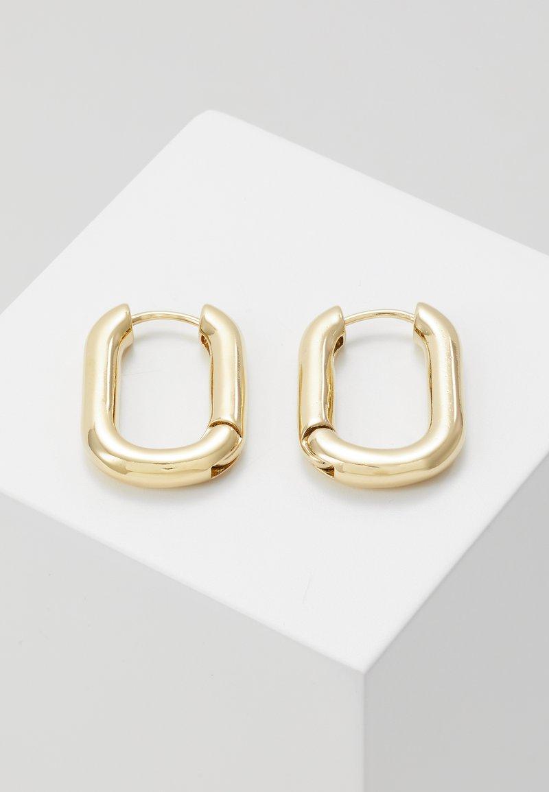 Orelia - CHUNKY OVAL HOOP - Korvakorut - pale gold-coloured