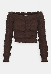 Nly by Nelly - ALL OVER RUCHED - Long sleeved top - brown - 0