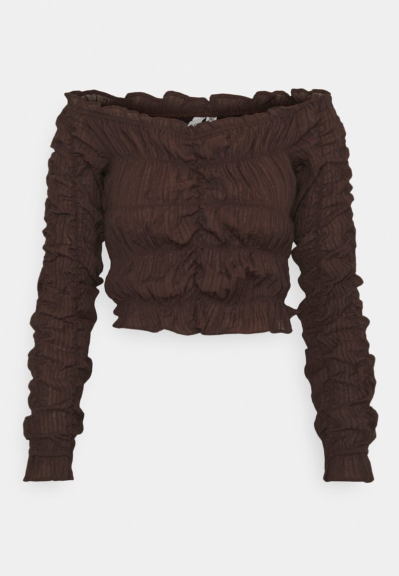 Nly by Nelly - ALL OVER RUCHED - Long sleeved top - brown