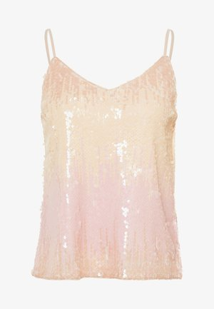ONLJOY SEQUINS - Top - seedpearl/pastel