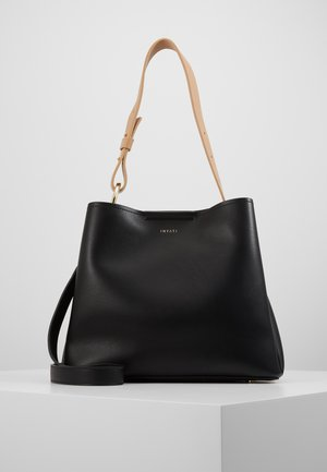 JANE - Käsilaukku - black/ latte