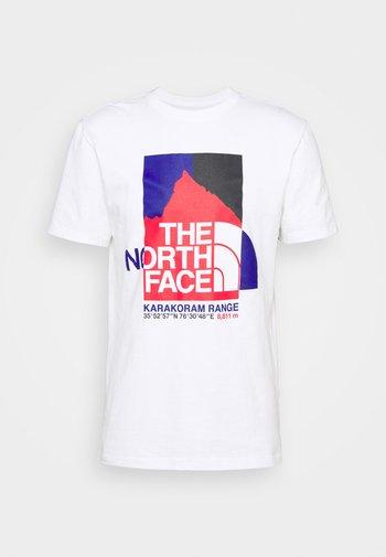 KARAKORAM GRAPHIC TEE - Print T-shirt - white