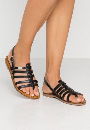 HERILO - Sandály s odděleným palcem - black