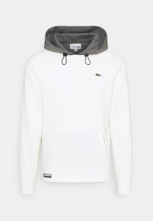 COLOURED HOOD - Sudadera - flour/pitch chine
