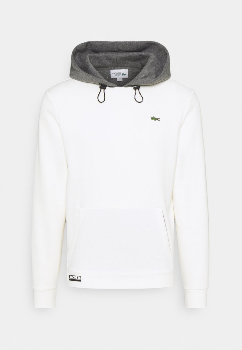 Lacoste Sport - COLOURED HOOD - Mikina - flour/pitch chine