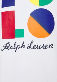 Polo Ralph Lauren - CUSTOM SLIM FIT LOGO JERSEY T-SHIRT - T-shirt z nadrukiem - white - 2