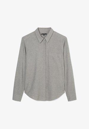 Button-down blouse - soft grey melange