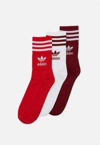 MID CUT UNISEX 3 PACK - Ponožky - white/red/bordeaux