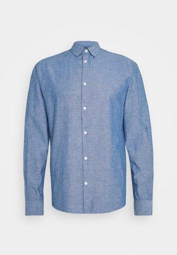 REGULAR FIT - Shirt - medium blue melange