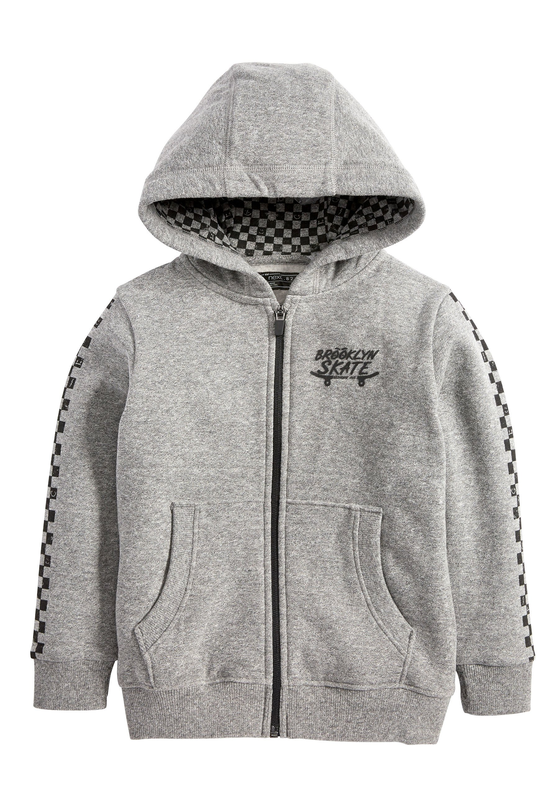 Große Förderung Next CHECK ZIP THROUGH HOODY (3-16YRS) - Sweatjacke - grey | Damenbekleidung 2020