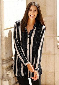 Laura Kent - Button-down blouse - stein,schwarz,wollweiß - 1