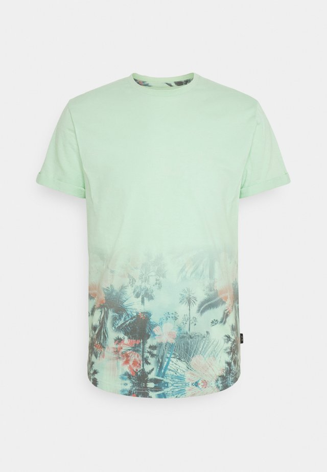 AVILES - T-shirt con stampa - pastel green