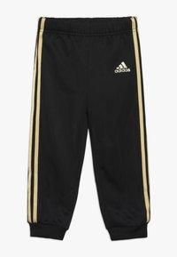 adidas Performance - SHINY  - Tracksuit - black/gold - 2