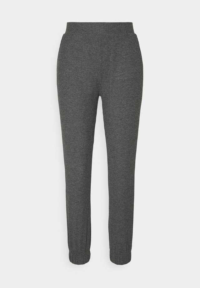 ONLNELLA PANTS - Trainingsbroek - dark grey melange