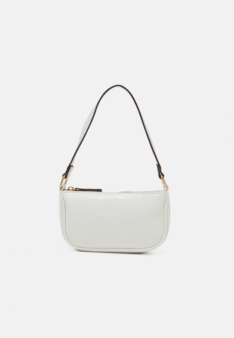 New Look - BRENDA CROC MINI SHOULDER BAG - Handtasche - white