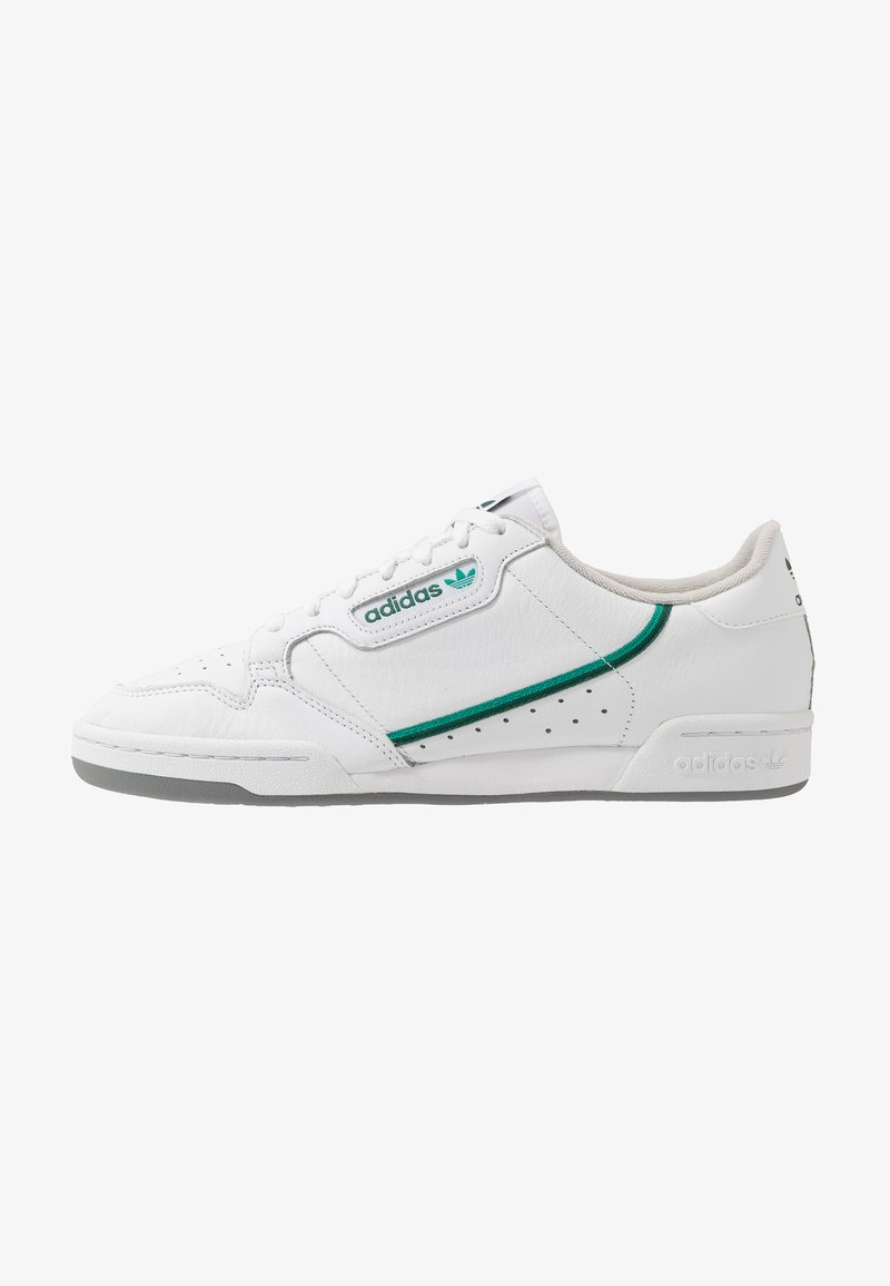 adidas Originals - CONTINENTAL - Sneakers basse - footware white/collegiate green/core green