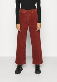 GAP - FULL LENGTH WIDE LEG - Trousers - copper beech - 0