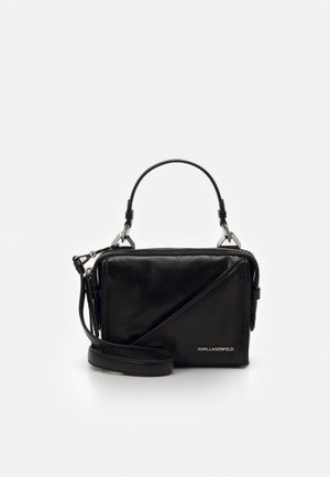SLASH SMALL TOP HANDLE - Handbag - black