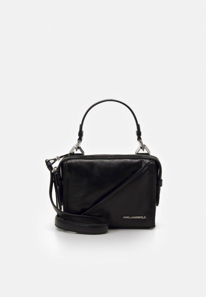 KARL LAGERFELD - SLASH SMALL TOP HANDLE - Handbag - black