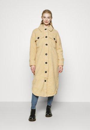 BORG LONGLINE SHACKET - Classic coat - beige