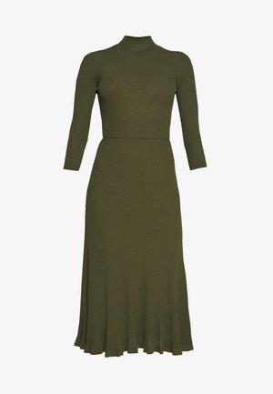 WRAP DRESS - Maxikjole - dark olive