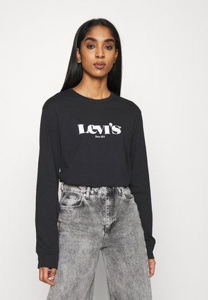 STANDARD FIT TEE - Long sleeved top - caviar