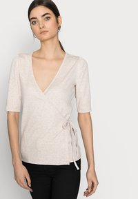 Gap Tall - WRAP - T-shirts med print - oatmeal heather - 3