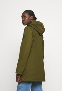 Marc O'Polo - THERMORE SHAPED FIX HOOD FRONT ZIP - Light jacket - natural olive - 3