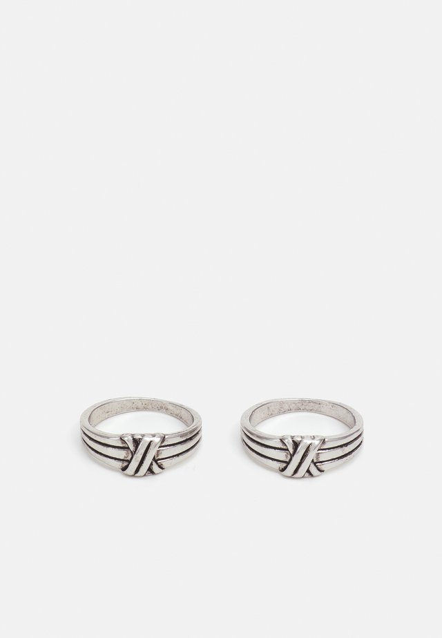 KNOTTED 2 PACK - Ring - black