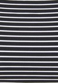 Seafolly - COLD SHOULDER BANDEAU - Bikini top - black/white - 6