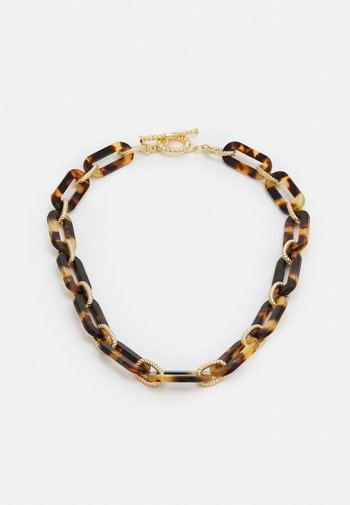 LINK COLLAR - Necklace - gold-coloured/tort