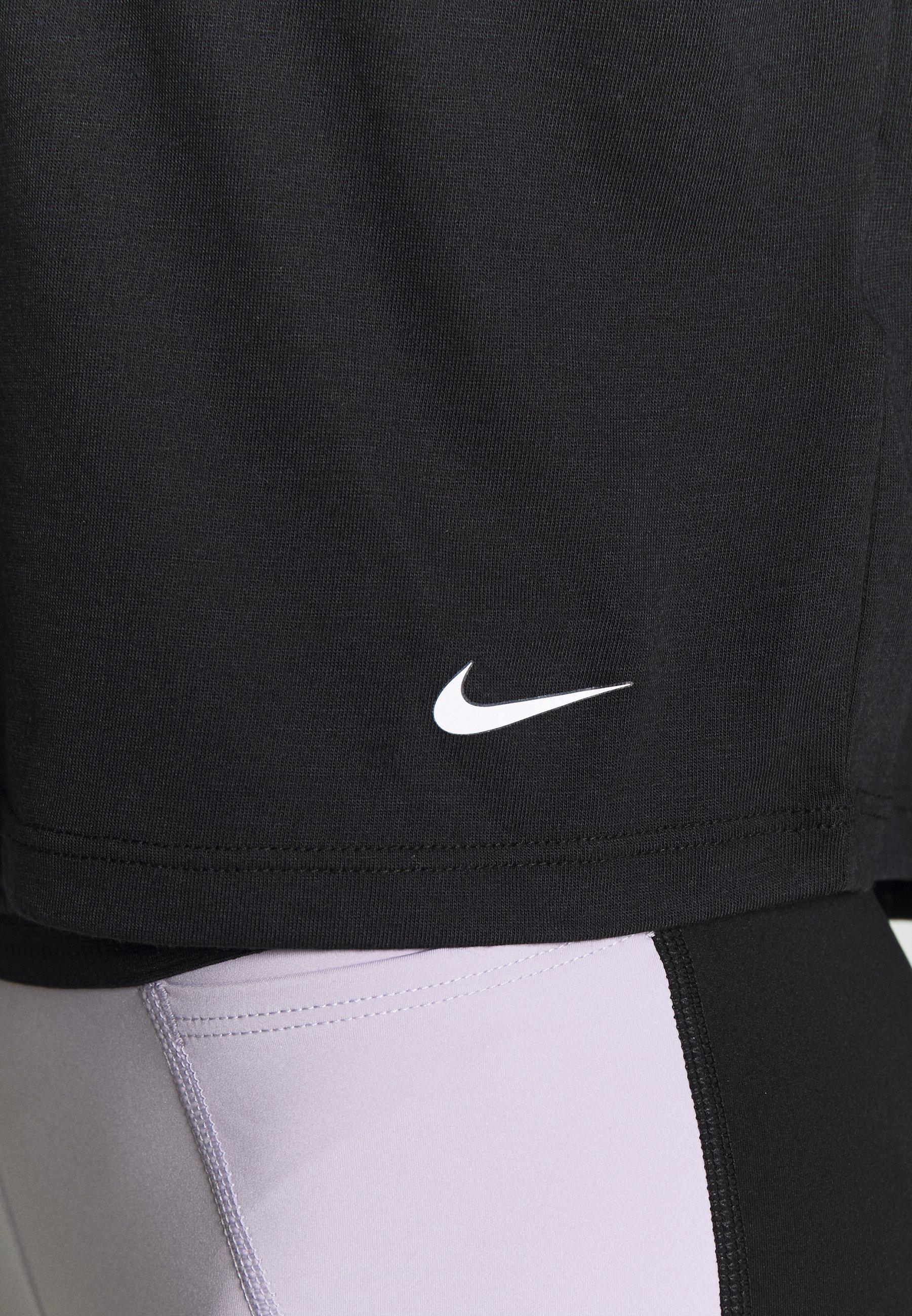 Nike Performance Print T-shirt - black/white Kpadh