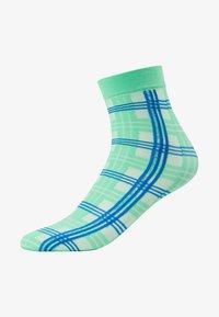 Swedish Stockings - GRETA TARTAN SOCKS - Sokken - green/sea blue - 1