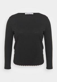 Glamorous Curve - ROUND NECKLINE AND LONG SLEEVES - Top sdlouhým rukávem - black - 4