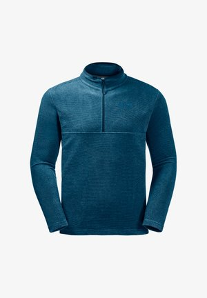 Fleece jumper - dark cobalt stripes