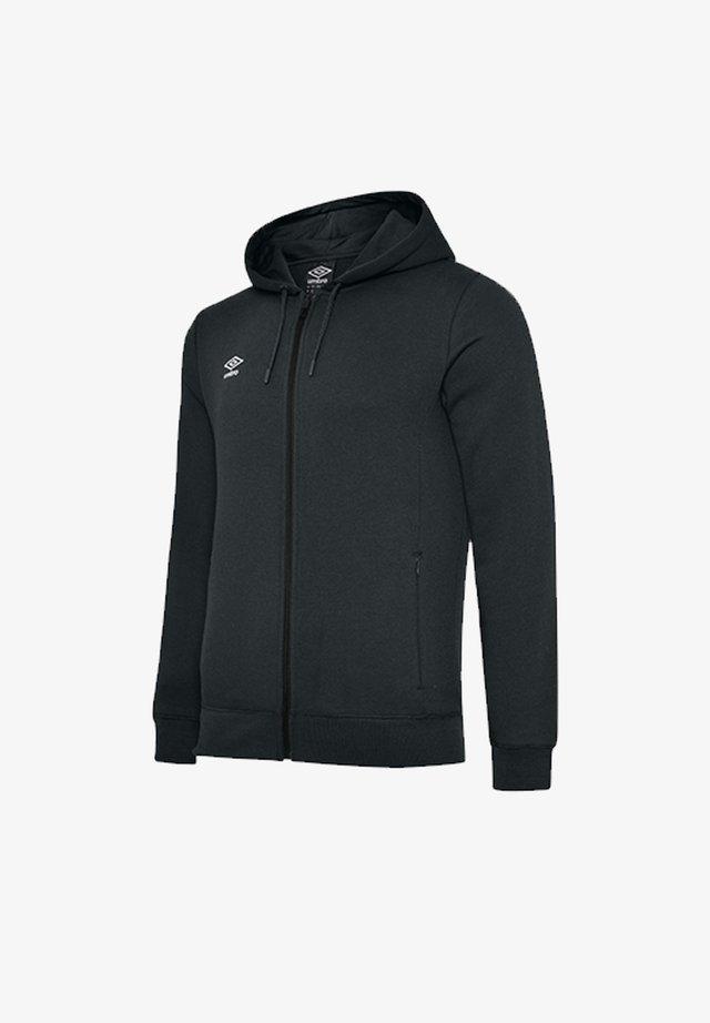 Zip-up hoodie - schwarzweiss