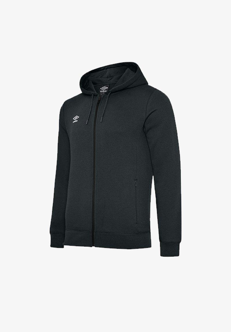 Umbro - Zip-up sweatshirt - schwarzweiss