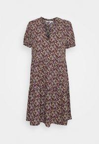 ONLNOVA LIFE THEA DRESS - Denní šaty - black/viola ditsy