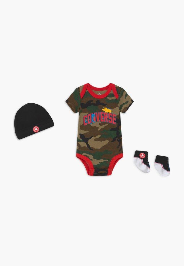 DINOS INFANT SET - Prezenty z okazji narodzin - khaki