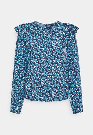 RUFFEL SHOULDER - Blouse - blue