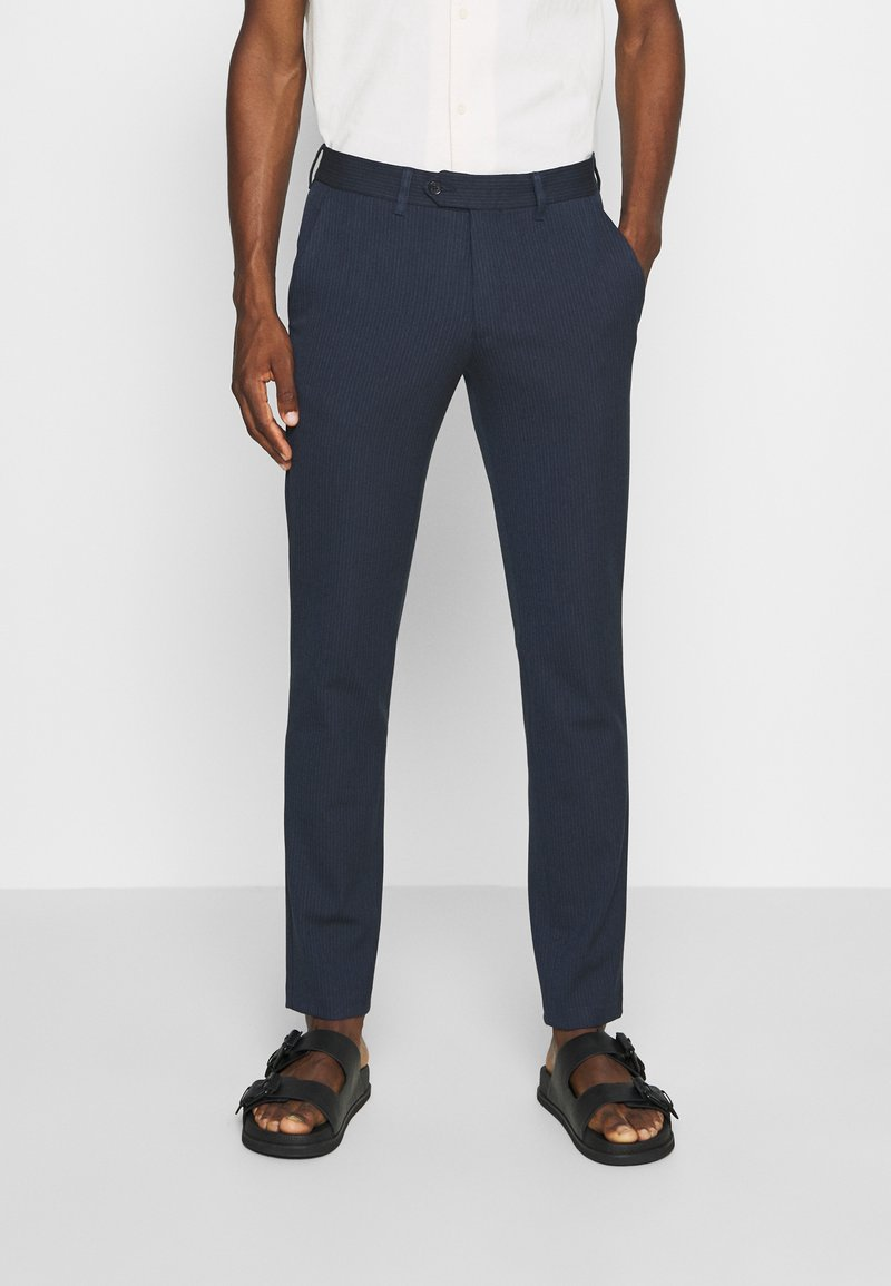 Selected Homme - SLHSLIM CARLO COTFLEX PANTS - Kalhoty - dark navy