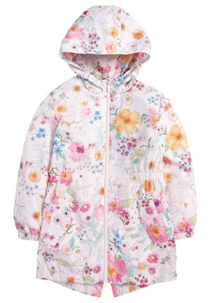 FLURO LONG LINE CAGOULE (3-16YRS) - Parkaer - light pink