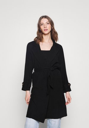 ONLARIS LONG BELT - Trenchcoat - black