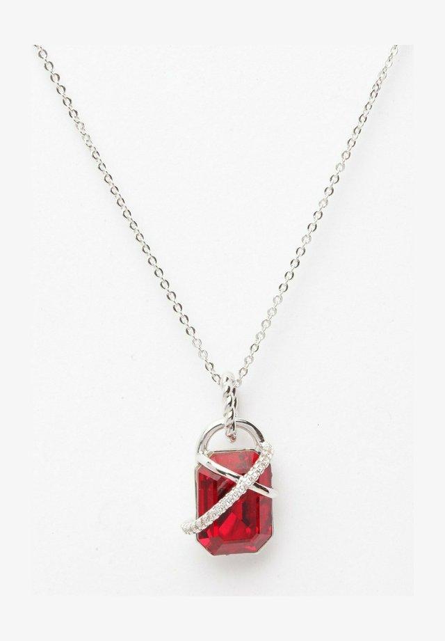 AVANT-GARDE PARIS CRYSTALLIZED WITH SWAROVSKI GEOMETRIC PENDANT - Necklace - red