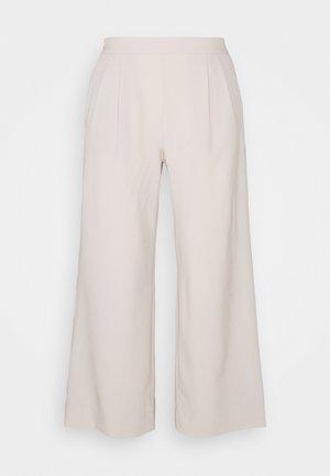 FLYWEIGHT WIDE LEG - Trousers - grey