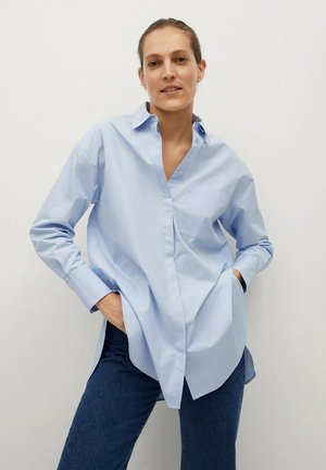 JAMES - Button-down blouse - blue