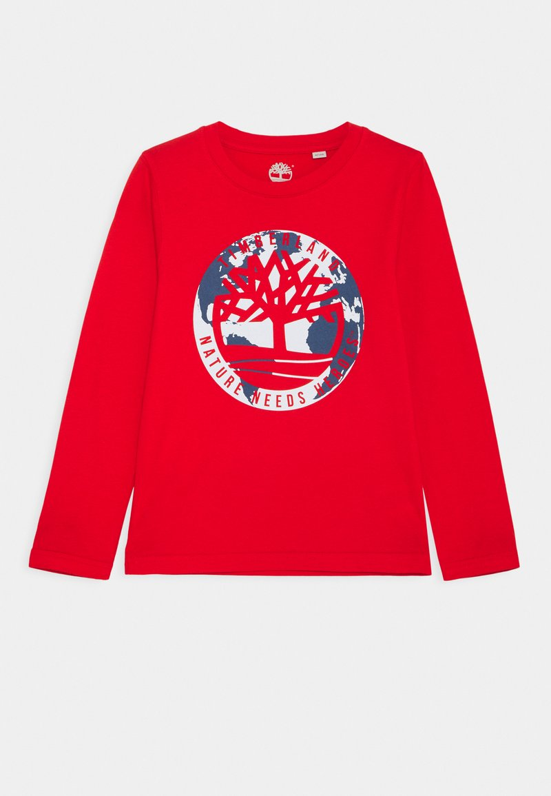 Timberland - LONG SLEEVE - Long sleeved top - bright red