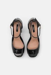 ONLY SHOES - ONLAERIN STRUCTURE  - Sandály na vysokém podpatku - black - 5