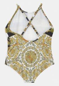 Versace - BEACHWEAR BAROCCO MOSAIC - Swimsuit - white/gold/kaki - 1